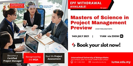 IUMW MSc of Project Management Preview tickets
