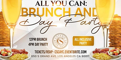 Brunch 12-4pm All You Can: Brunch + Bottomless Mimosas DTLA tickets