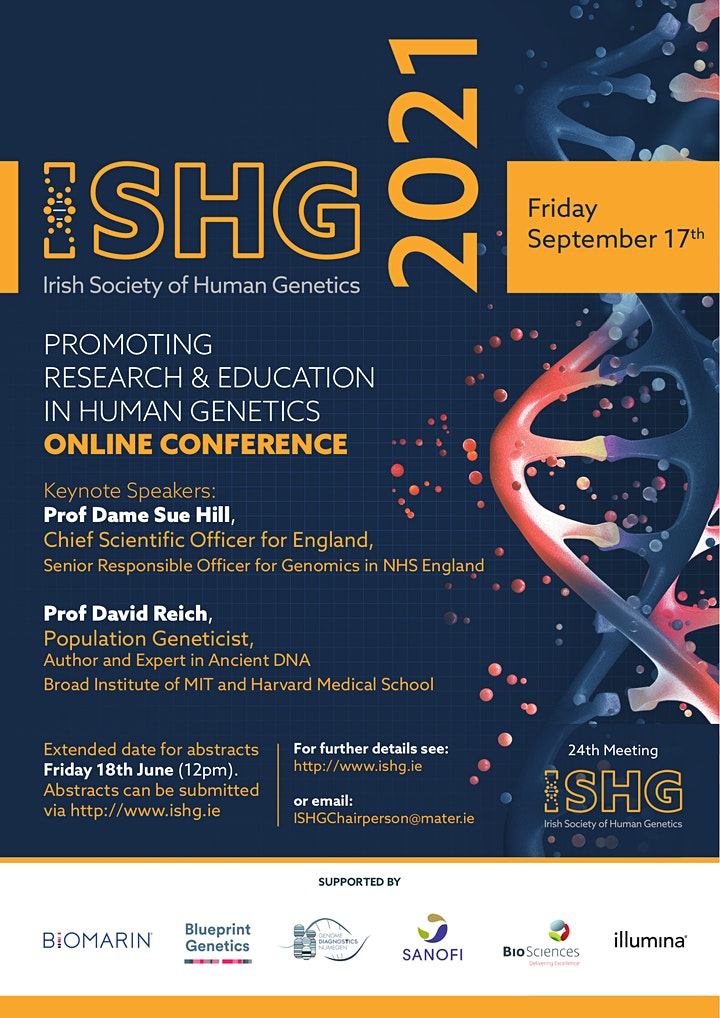 Irish Society of Human Genetics Conference 2021 image