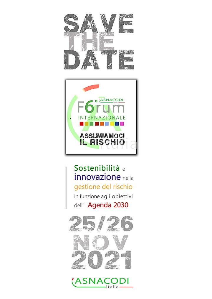 Immagine 6° Forum Internazionale Gestione dei Rischi - 6° International Forum