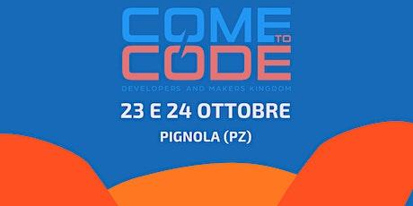 Come To Code 2021 biglietti