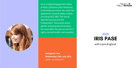 Q&A on Instagram Live with Iris Pase tickets
