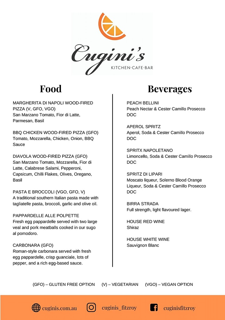Bottomless Lunch at Cugini's Fitzroy image