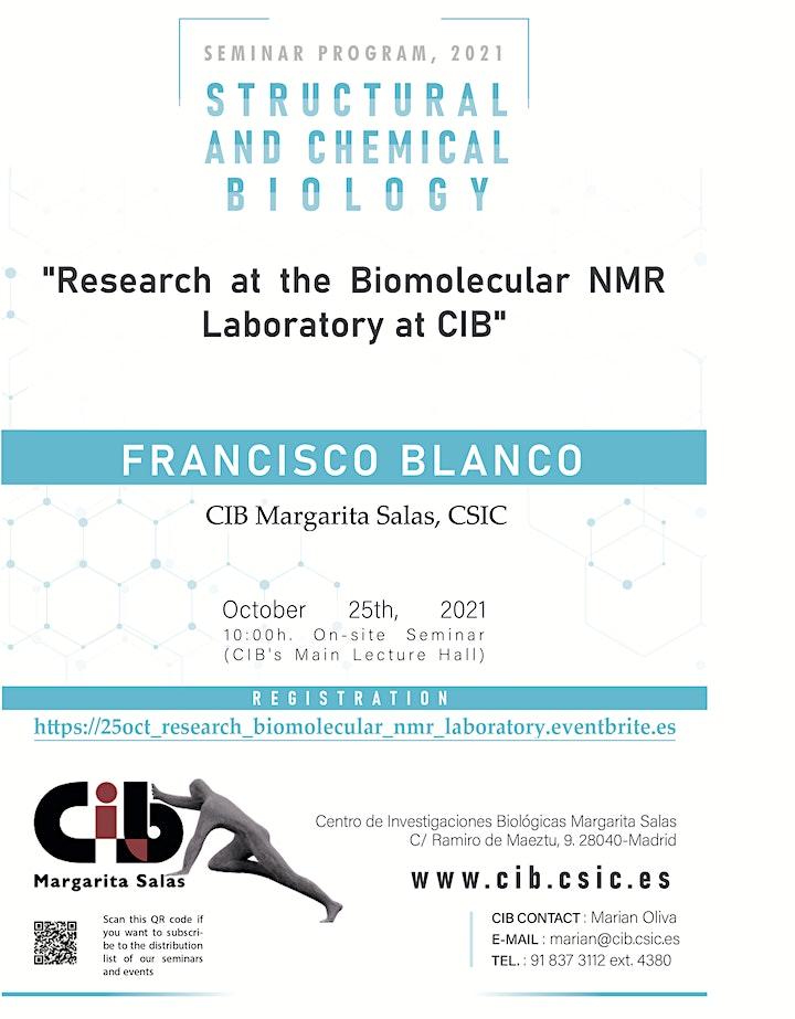 Imagen de Research at the Biomolecular NMR Laboratory at CIB.
