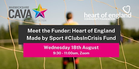 Meet the Funder: Heart of England Made by Sport #ClubsInCrisis Fund tickets