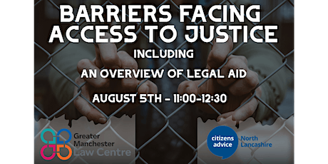 Barriers Facing Access to Justice including An Overview of Legal Aid tickets