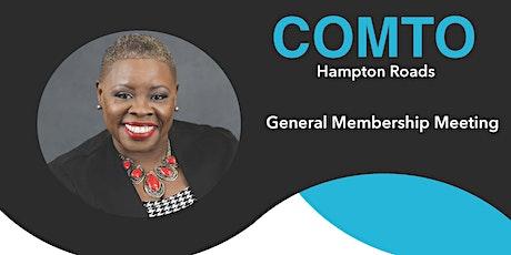 Copy of COMTO Hampton Roads August 2021 General Membership Meeting tickets