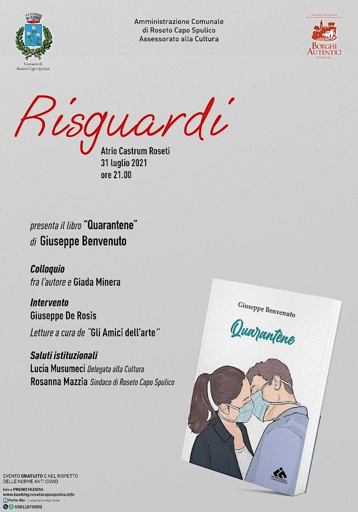 "Immagine Risguardi…presenta ""Quarantene"" di Giuseppe Benvenuto"