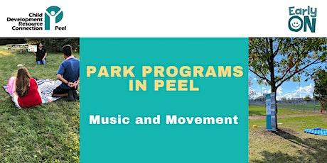 PARK PROGRAM: Snowcap Park - Music and Movement (birth-6 years) tickets
