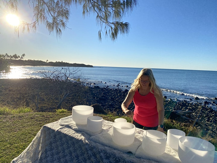 Free Community Crystal Bowl Sound Meditation at Bargara Beach image