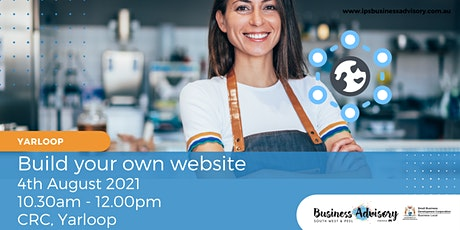 Build your own website tickets