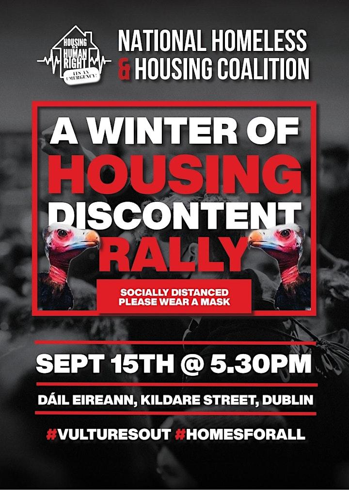 NHHC Housing Crisis Rally 15 Sep at Dáil Éireann image