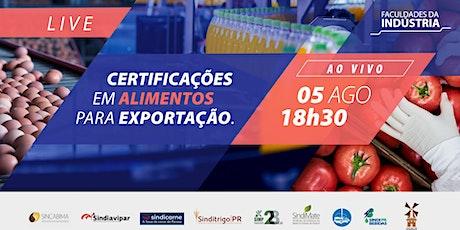 Certificações para Alimentos em Exportação | Faculdades da Indústria ingressos
