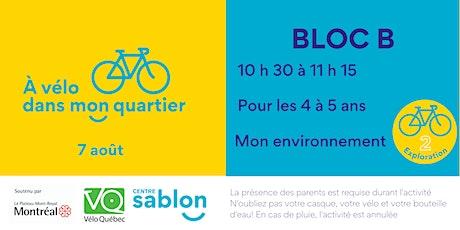 À Vélo dans mon quartier - 7 août 2021 - Bloc B tickets