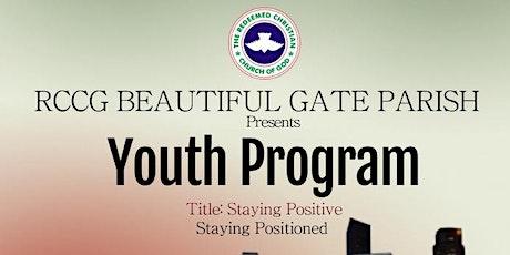 RCCG BEAUTIFUL GATE PARISH YOUTH PROGRAM tickets
