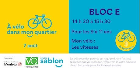 À Vélo dans mon quartier - 7 août 2021 - Bloc E tickets