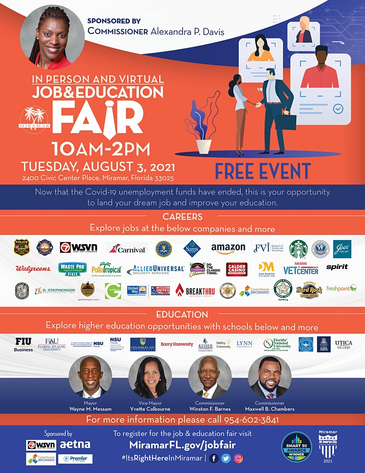 In Person and Virtual Job & Education Fair image