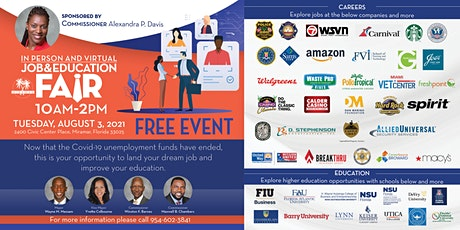 In Person and Virtual Job & Education Fair tickets
