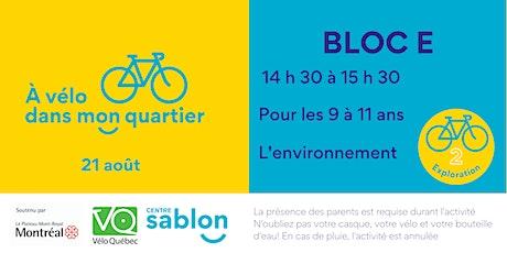 À Vélo dans mon quartier - 21 août 2021 - Bloc E tickets
