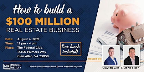 How to build a $100 Million Real Estate Business tickets