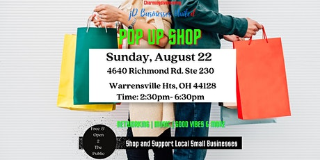 JDBusinesses United POP UP SHOP August  22 Shop with Local Small Businesses tickets