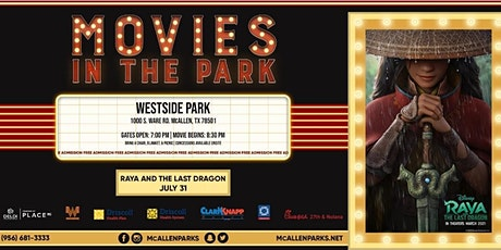 Raya and The Last Dragon! Movies in The Park with McAllen Parks and Rec tickets