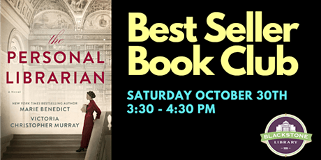 Best Seller Book Club: The Personal Librarian by Marie Benedict tickets