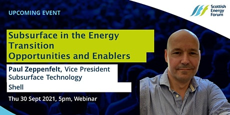 Subsurface in the Energy Transition - Opportunities and Enablers tickets