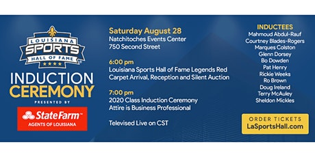 Class of 2021 LSHOF Induction Ceremony Presented by State Farm Agents of LA tickets