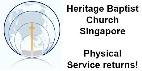 Heritage Baptist Church Sunday Morning 9.30am Service - 1st August 2021 tickets
