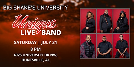 Unique Live Band LIVE @ Big Shake's University tickets