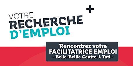 Permanences Emploi  quartier prioritaire  Belle-Beille (Centre Tati) - Août billets