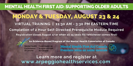 Mental Health First Aid: Supporting Older Adults (Virtual Training) tickets