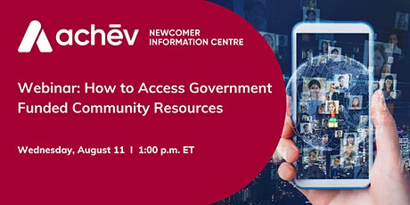 How to Access Government Funded Community Resources tickets