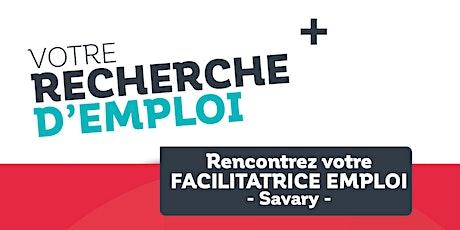 Permanences Emploi dans le quartier prioritaire de Savary - Août billets
