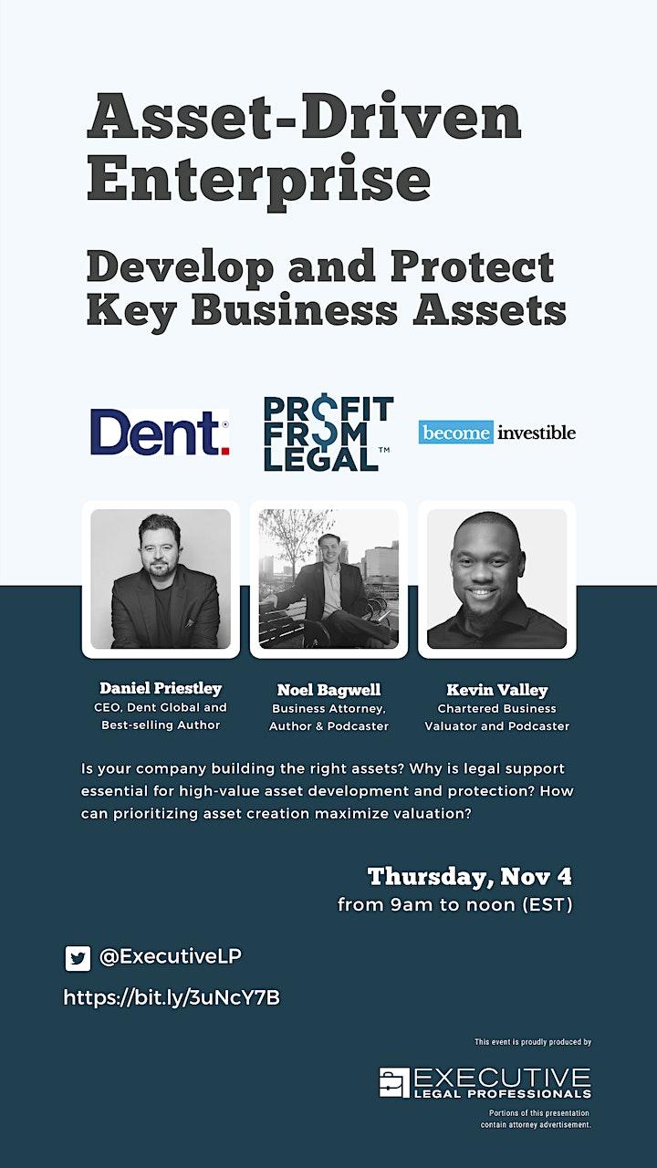 The Asset-Driven Enterprise LIVE Event with Daniel Priestley image