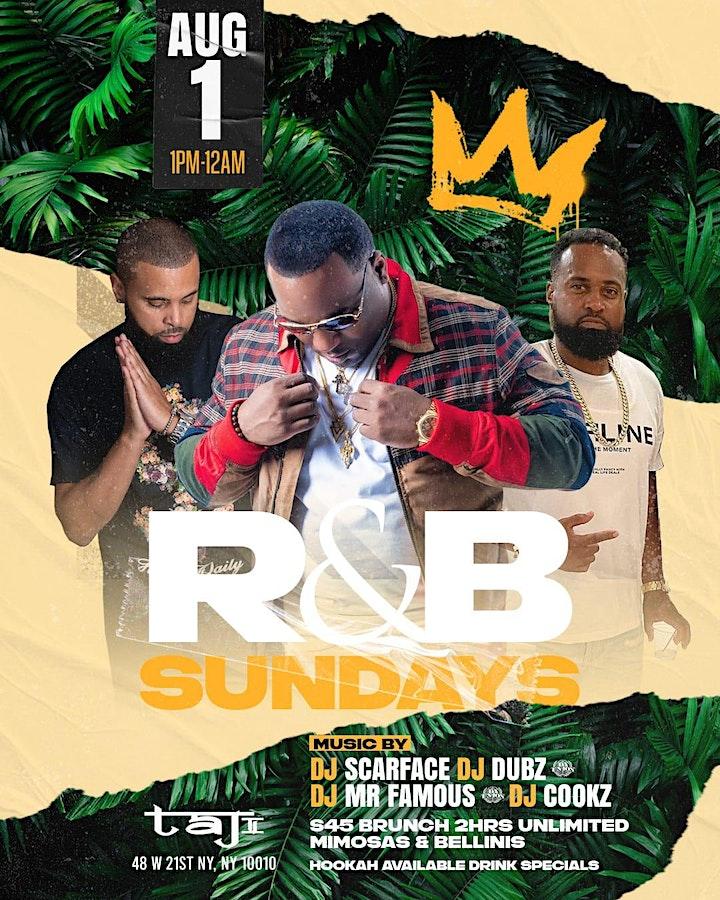 TAJ R&B SUNDAYS BRUNCH AND DAY PARTY image