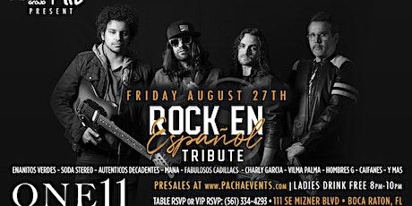 AVENIDA SUR Live Latin Rock Tribute Show Friday August 27th @ ONE11 Boca tickets