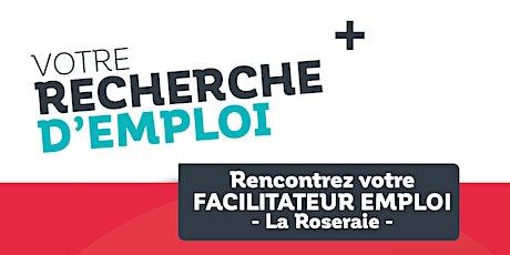 Permanences Emploi dans le quartier prioritaire de La Roseraie - Août billets