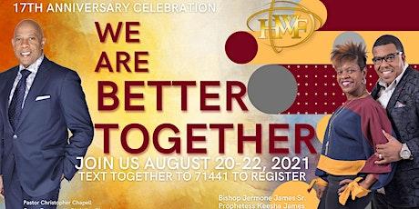 August 22, 2021Anniversary Celebration tickets