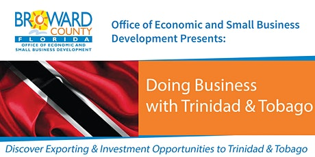Doing Business with Trinidad and Tobago tickets
