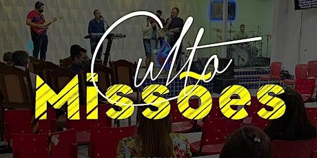 Culto de Missões AD Jardim Guanabara 1- Domingo Noite - 18h ingressos