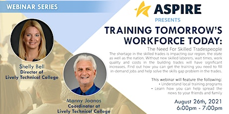 Training Tomorrow's Workforce Today: The Need for Skilled Tradespeople tickets