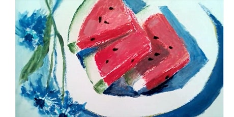 Summer Watermelon [oil pastels+acrylics] - painting workshop for Beginners tickets