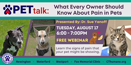 PETtalk: What Every Owner Should Know About Pain in Pets tickets