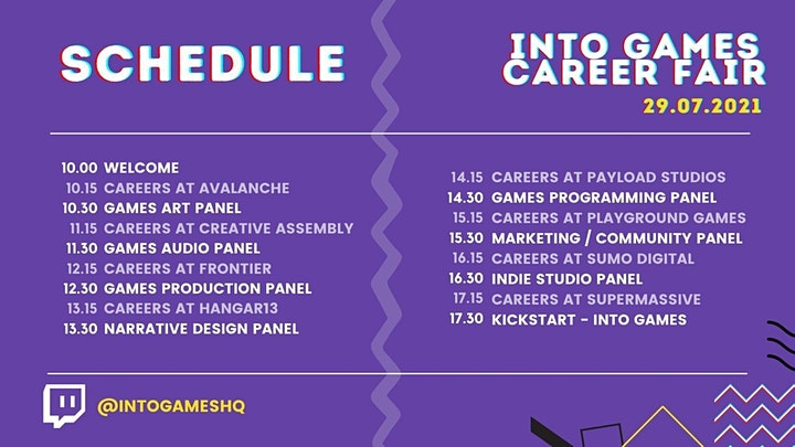 Into Games Career Fair 2021 image