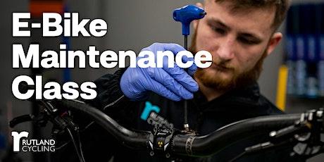 E-Bike Online Maintenance Class tickets