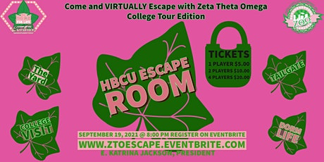 ZTO HBCU Escape Room tickets