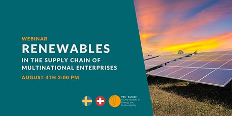 Renewables In the Supply Chain of Multinational Enterprises tickets