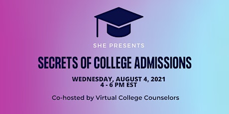 Secrets to College Admissions tickets